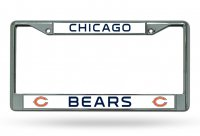 Chicago Bears Chrome License Plate Frame