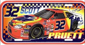 Scott Pruett #32 NASCAR Plastic License Plate