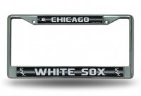 Chicago White Sox Glitter Chrome License Plate Frame
