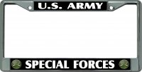 U.S. Army Special Forces Chrome License Plate Frame