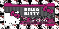 Hello Kitty Emoji Heads Plastic License Plate Frame