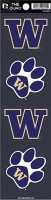 Washington Huskies Quad Decal Set