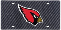 Arizona Cardinals Carbon Fiber Design Laser License Plate