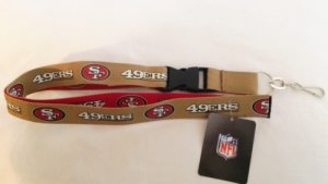 San Francisco 49ers Two Tone Lanyard With Safety Fastener