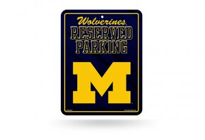 Michigan Wolverines Metal Parking Sign