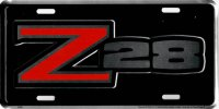 Z28 Chevy Camaro Logo Metal License Plate
