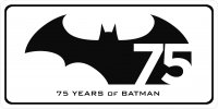 Batman 75 Years Photo License Plate