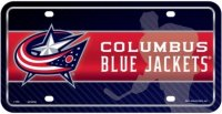 Columbus Blue Jackets Metal License Plate