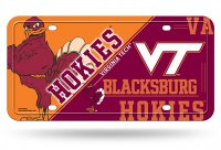 Virginia Tech Hokies Metal License Plate