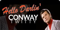 Conway Twitty Hello Darlin' Photo License Plate