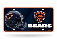 Chicago Bears Metal License Plate