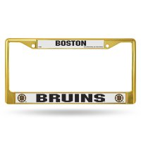 Boston Bruins Anodized Gold License Plate Frame