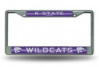 Kansas State Wildcats Glitter Chrome License Plate Frame