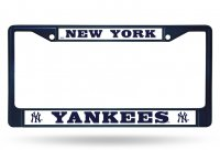 New York Yankees Anodized Navy Blue License Plate Frame