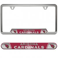 Arizona Cardinals Premium Stainless License Plate Frame
