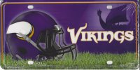 Minnesota Vikings Metal License Plate