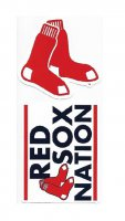 Boston Red Sox Double Up Die Cut Vinyl Stickers