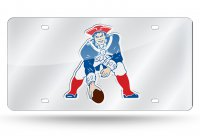 New England Patriots AFL Retro Silver Laser License Plate