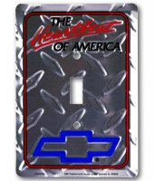 Chevrolet Diamond Plate Light Switch Cover