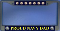 Proud Navy Dad Photo License Plate Frame