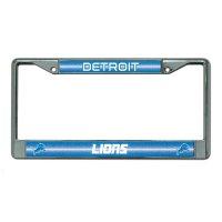 Detroit Lions Glitter Chrome License Plate Frame