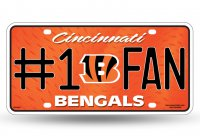 Cincinnati Bengals #1 Fan Metal License Plate
