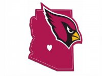 Arizona Cardinals Home State Vinyl Sticker