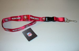 San Francisco 49ers Lanyard With Safety Fastener