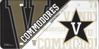 Vanderbilt University Commodores Metal License Plate