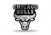 Chicago Bulls Chrome Auto Emblem