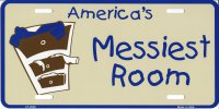 America's Messiest Room Metal License Plate
