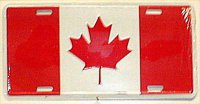 Canada Flag Metal License Plate