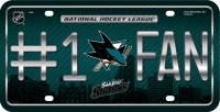 San Jose Sharks #1 Fan Metal License Plate