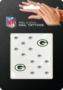 Green Bay Packers Peel And Stick Nail Tattoos