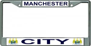 Manchester City Chrome License Plate Frame