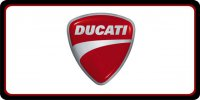 Ducati Motorcycles Photo License Plate