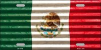Mexico Flag Corrugated Metal License Plate