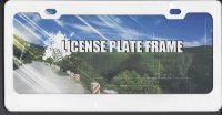 Blank Smooth White 2 Hole License Plate Frame