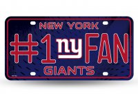 New York Giants #1 Fan License Plate