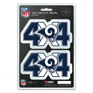 Los Angeles Rams 4x4 Decal Pack