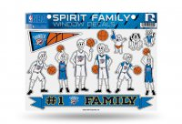 Oklahoma City Thunder Family Decal Set