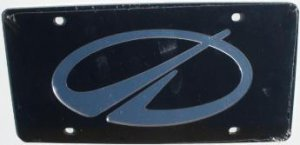 Oldsmobile Black Laser Cut License Plate