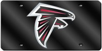 Atlanta Falcons Black Laser License Plate
