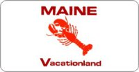 Design it Yourself Maine State Look-Alike Bicycle Plate