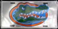 Florida Gators Anodized License Plate