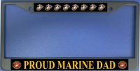 Proud Marine Dad Photo License Plate Frame