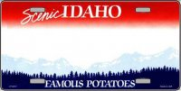 Idaho State Background Metal License Plate