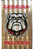 Georgia Bulldogs Corrugated Metal Sign