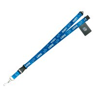 Detroit Lions Blue Lanyard With Safety Latch
