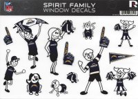 San Diego Chargers Family Spirit Decal Set